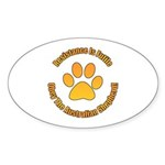 Australian Shepherd Dog Sticker (Oval 50 pk)