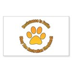 Australian Shepherd Dog Sticker (Rectangle 10 pk)