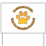 Australian Shepherd Dog Yard Sign