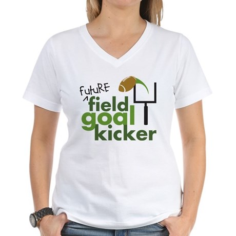 Future Field Goal Kicker Women's V-Neck T-Shirt