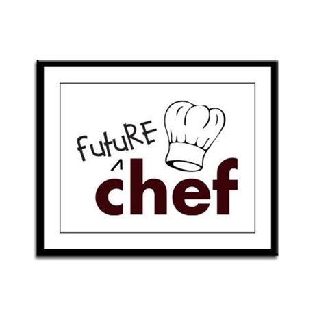 Future Chef Framed Panel Print