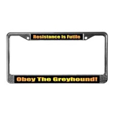 Greyhound License Plate Frame