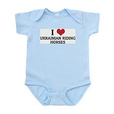 I Love Ukrainian Riding Horse Infant Creeper