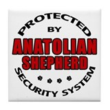 Anatolian Shepherd Security Tile Coaster