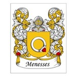 Menesses Family Crest Small Poster