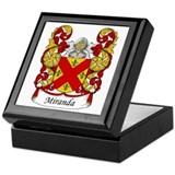 Miranda Family Crest Keepsake Box