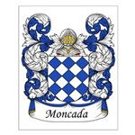 Moncada Family Crest Small Poster