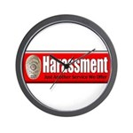 Harassment Wall Clock