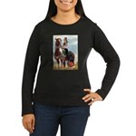 Mounted Shriner Women's Long Sleeve Dark T-Shirt
