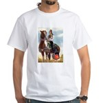 Mounted Shriner White T-Shirt