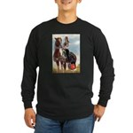 Mounted Shriner Long Sleeve Dark T-Shirt
