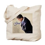 Obama Praying Tote Bag