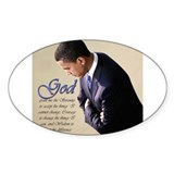Obama Praying Oval Decal