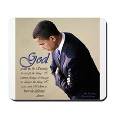 Obama Praying Mousepad