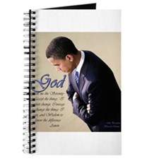 Obama Praying Journal