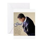 Obama Praying Greeting Cards (Pk of 10)