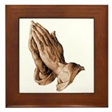 Durer's Praying Hands Framed Tile