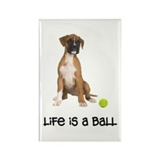 Boxer Life Rectangle Magnet