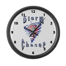 Storm Chaser 3 Large Wall Clock