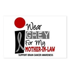 I Wear Grey For My Mother-In-Law 9 Postcards (Pack