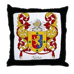 Neto Family Crest Throw Pillow