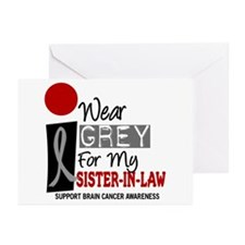 I Wear Grey For My Sister-In-Law 9 Greeting Cards