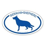"""German Shepherd"" - Oval Decal"