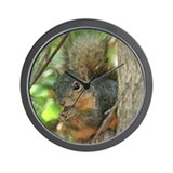 Munching Squirrel Wall Clock