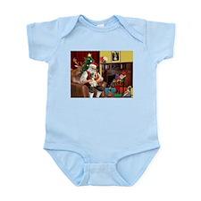 Santa's Petit Basset Infant Bodysuit