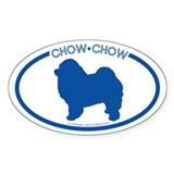"""Chow Chow"" - Oval Decal"