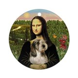 Mona Lisa's PBGV Ornament (Round)