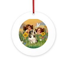 Angels and PBGV Ornament (Round)