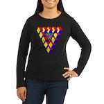 KUBEZ Women's Long Sleeve Dark T-Shirt