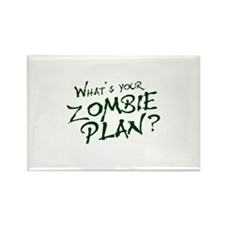 What's Your Zombie Plan? Rectangle Magnet