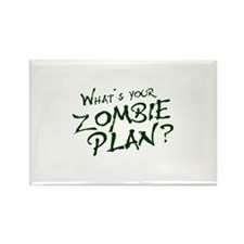 What's Your Zombie Plan? Rectangle Magnet (10 pack