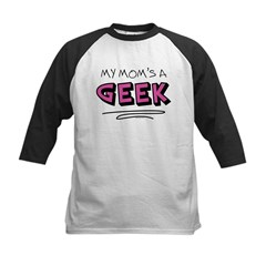 My Mom's a Geek Kids Baseball Jersey