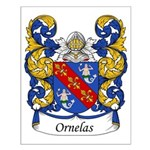 Ornelas Family Crest Small Poster