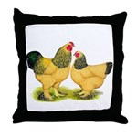 Buff Brahmas Throw Pillow