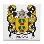 Pacheco Family Crest Tile Coaster