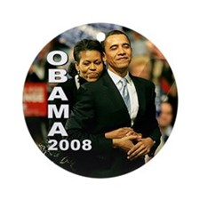 Obama Hug Ornament (Round)