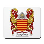 Pamplona Family Crest Mousepad