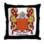 Pamplona Family Crest Throw Pillow