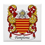 Pamplona Family Crest Tile Coaster