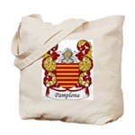 Pamplona Family Crest Tote Bag