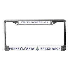 Valley Lodge Metal Custom License Plate Frame