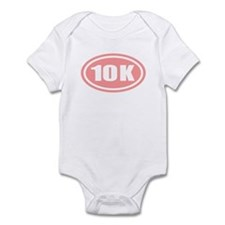 Pink 10 K Runner Oval Infant Bodysuit