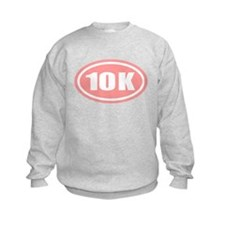 Pink 10 K Runner Oval Sweatshirt