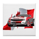 Canadian Muscle Camaro Tile Coaster