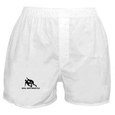 Real Men Wrestle Boxer Shorts