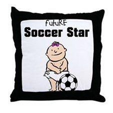 Future Soccer Star Girl Nursery Pillow